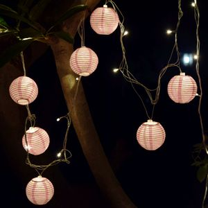 Paper Lamp with Led String Lights ( Set of 10)