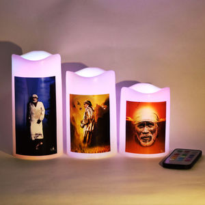 Multicolor Led Light Candle with Remote