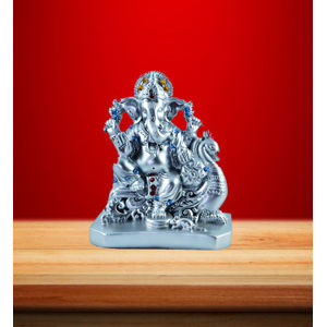 Mini Ganesh Idol (Silver)