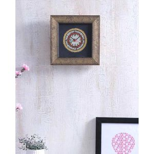 Black Gold Hand Painted Warli Clock