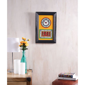 Black Yellow Handmade Clock