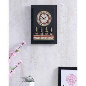 Black Dhokra Clock