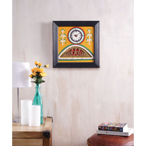 Black Yellow Handcrafted Clock