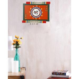 Orange Warli Wall Clock