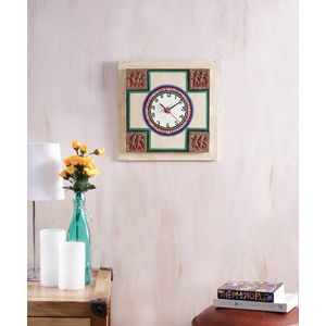 Handmade Light Gold Wall Clock