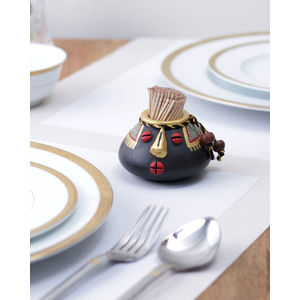 Ethnic Black Terracotta Toothpick Holder