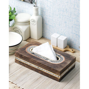 Ethnic Wooden Tissue Box