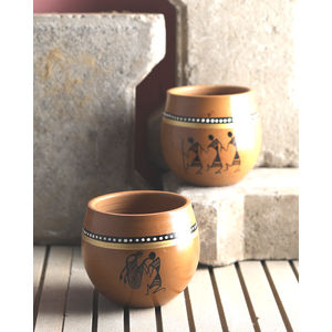 Ethnic Hand Painted Kulhad Cups Set of Six