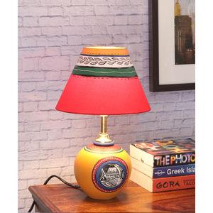 Handmade Yellow Terracota Round Lamp