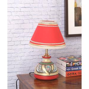 Madhubani Multicolored Terracotta  Lamp