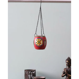 Handpainted Red Tea Lite Hanging