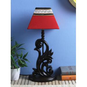 Handpainted  Square Red Black Warli Lamp Shade