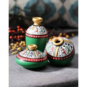 Green Warli Miniature Set
