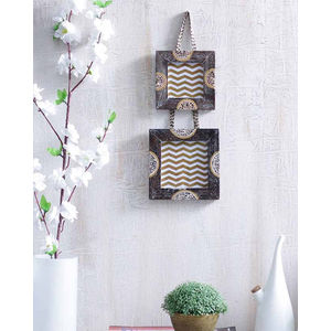 Ethnic Wooden Hanging Photo Frame Set