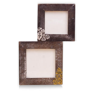 Ethnic Wooden Wall Hanging Photoframe Set