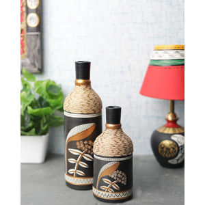 Shades of Earth Terracotta Vases Set of Two