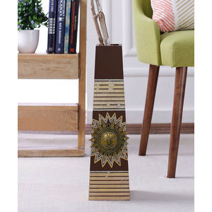 Hand Painted Wooden 18 Inch Sun Vase
