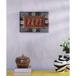 Wooden Dhokra Wall Hanging