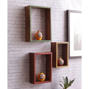 Set of Three Wooden Shelves
