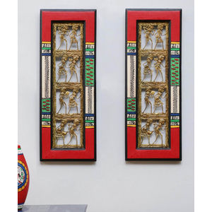 Ethnic Red Dhokra Wall D