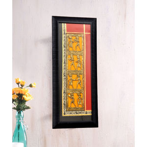 Handcrafted Dhokra Red Wall Hanging