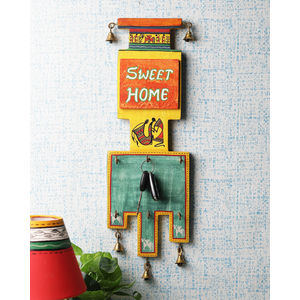 Ethnic Wooden Sweet Home Key Hook