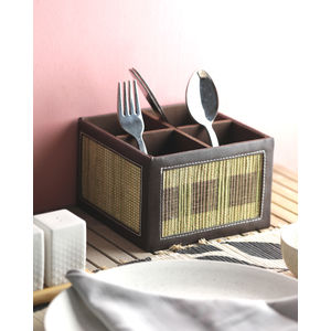 Banana Fibre Divided Cutlery Holder