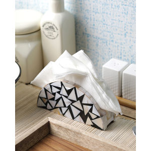 Sea Shells Black Triangle Tissue Holder