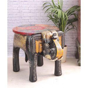 Hand Made Rajasthani 15 inch Elephant Stool