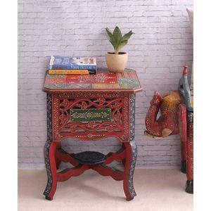 Multicolored Rajasthani End Table