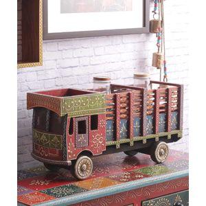 Hand crafted Multipurpose Rajasthani Truck Decorative cum Condiment Holder