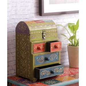 Hand Painted Rajasthani Multi Utility Box