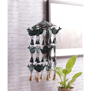 Antique Green Bird Wind Chime