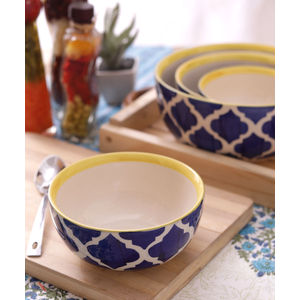 Hand Crafted Ceramic Bowls Set of Four