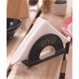 Black Spiral Ceramic Tissue Holder