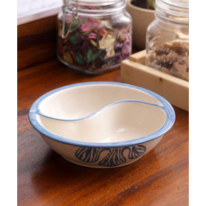 Blue Flowers Ceramic Partitioned Serving Dish