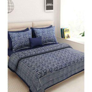 Indigo Blue Paisley Rajasthani bedSheet