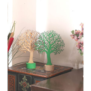 Wooden Trees Set of Two