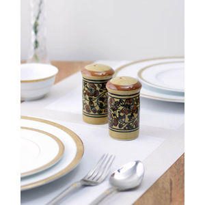 Brown ceramic Salt n Pepper Set