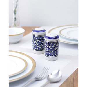 Blue ceramic Salt n Pepper Set