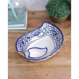 Blue Ceramic Snacks Plate
