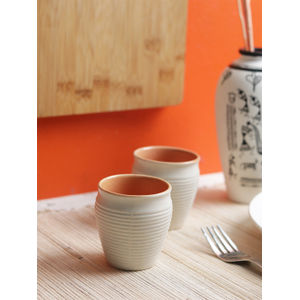 Marble Ceramic Kulhad Cups Set