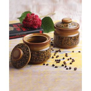 Hand Crafted Multipurpose Jars Set of Two