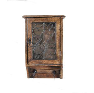 Ethnic Handmade Iron and Wood Key box