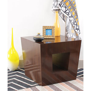 VarEesha Hand Crafted Taper End Tables Set of Two