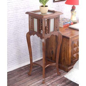 VarEesha Antique Teak Wood 30 Inch Planter Table