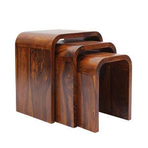 VarEesha Hand Crafted Sheesham Wood Nesting Tables Set