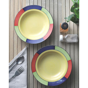 Ceramic Pasta cum Soup Plates Set of Two
