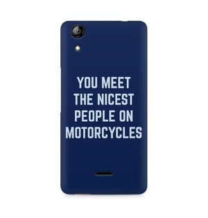 You Meet The Nicest People On Motorcycles - Micromax Canvas Selfie 2 Q340