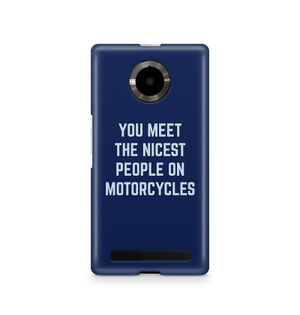 You Meet The Nicest People On Motorcycles - Micromax YU Yuphoria